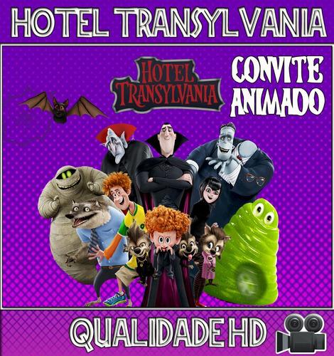 Imagem 1 de 1 de Convite Animado (vídeo) Aniversário Hotel Transylvania