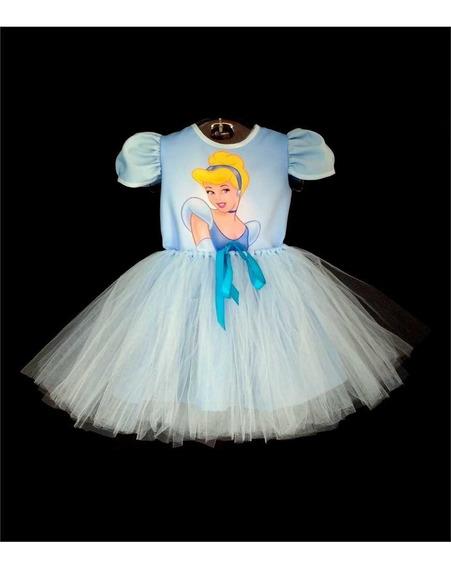 Vestido Infantil Cinderela Fantasia Cinderela Bailarina