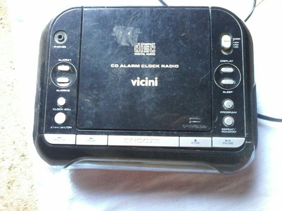 Rádio Relógio Com Cd.