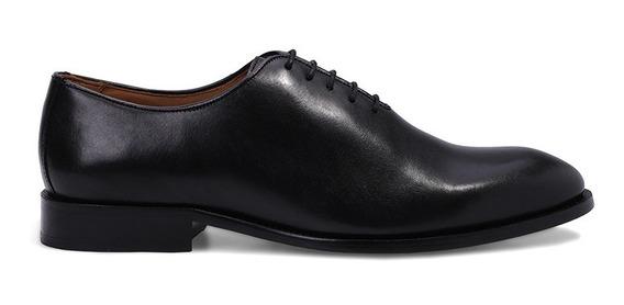 Sapato Social Masculino Preto Oxford Clássico Couro Premium