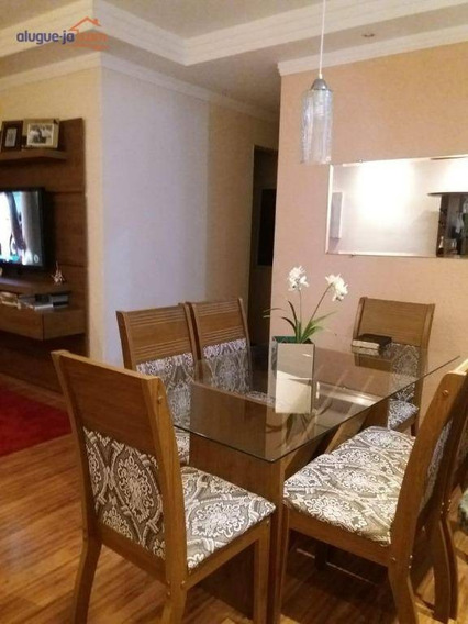 Apartamento Com 3 Dormitórios À Venda, 72 M² Por R$ 370.000 - Monte Castelo - São José Dos Campos/sp - Ap9675