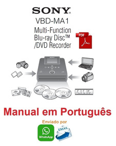 Manual Em Português Do Gravador Blu-ray Sony Vbd-ma1