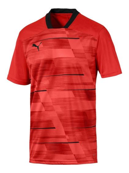Puma Remera M/c Running Hombre Graphic Rojo