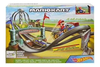 Pista Hot Wheels Mario Kart Original Com Carrinho - Circuito