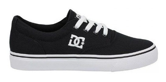 Tênis Dc Shoes New Flash 2 Tx Preto Sola Branca