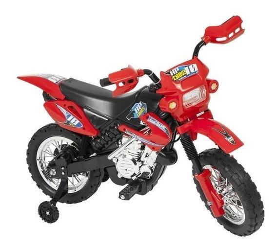 Moto Elétrica Infantil Vermelha 6v