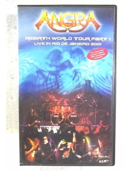 Angra Live In Rio 2001 Vhs Edição Limitada N° 117 Fan Club