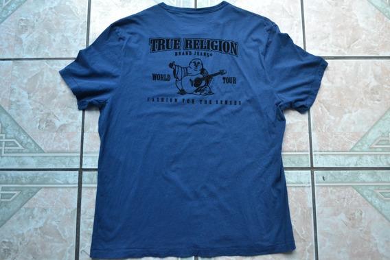 Playera True Religion Con Estampado Al Frente Y Por Detrás