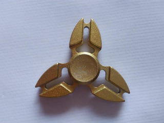Fidget Hand Spinner Metálico - Nuevo - Con Estuche - Oro