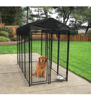 Jaula Casa Corral Para Perro Cachorros Mascotas 2mt Plegable