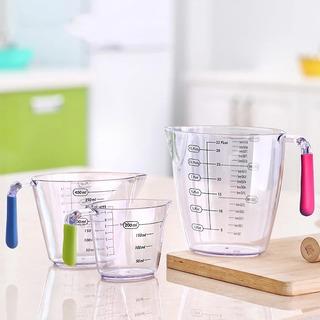 vasos medidores f/ácil de leer SGAONSN 400 ml Juego de 3 jarras medidoras de pl/ástico con asas de agarre en /ángulo sin BPA 200 ml 900 ml para cocinar con precisi/ón