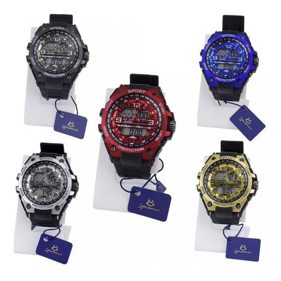 Kit 5 Relógio Masculino Digital Esportivo Prova D
