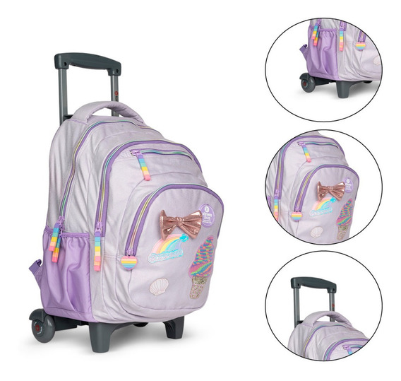 Mochila Carro Xtrem Escolar Sequins Shuttle Full