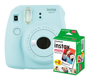 Câmera Instantânea Instax Fujifilm Mini 9 Aqua + Filme 20
