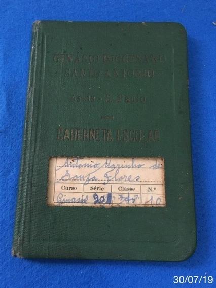 * Caderneta Antiga - Curso Ginasial De 1953 *