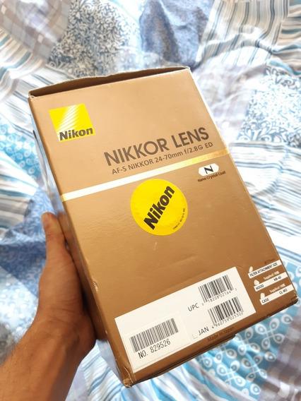 Nikon 24-70 2.8g Ed Com Caixa. Frete Grátis