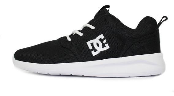 Tênis Skatista Dc Shoes Midway Preto/branco Original + Frete