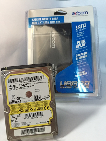 Hd Sata 250gb Interno + Hd Externo 250gb