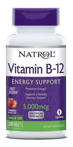Natrol Vitamina B12 Promueve Energia Sist Nervioso Saludable