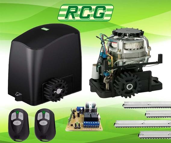 Kit Motor Portão 3 Metros Trilho Rcg 12x 2 Controles Retirar