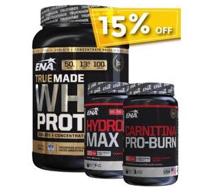 Combo Whey Protein True Made, Hydroxy Max, Carnitina Proburn