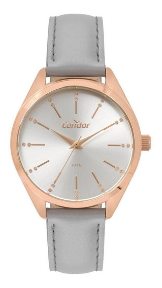 Relógio Condor Feminino Rose Couro Co2035mse/4k