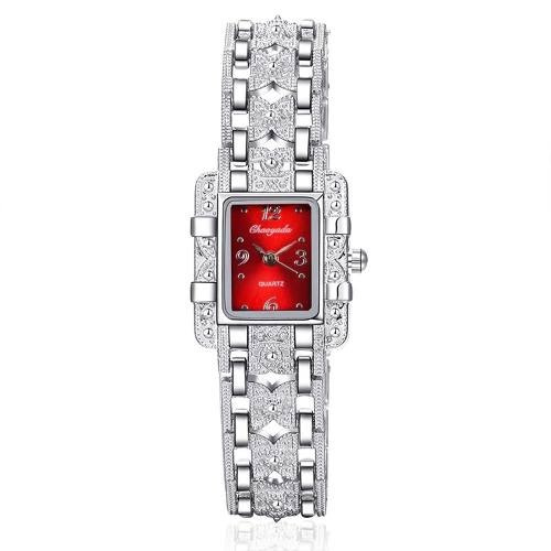 Relógio Feminino De Quartzo-relógio De Pulso- Aço Inoxidável