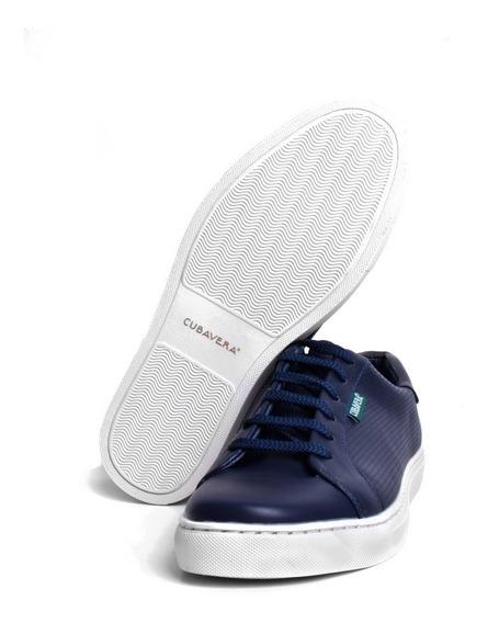 Tenis Cubavera Oxford Casuales Para Hombre Color Azul Marino