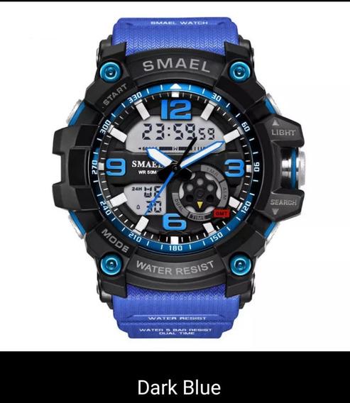 Relógio Smael Esportivo 1617 Prata Prova D