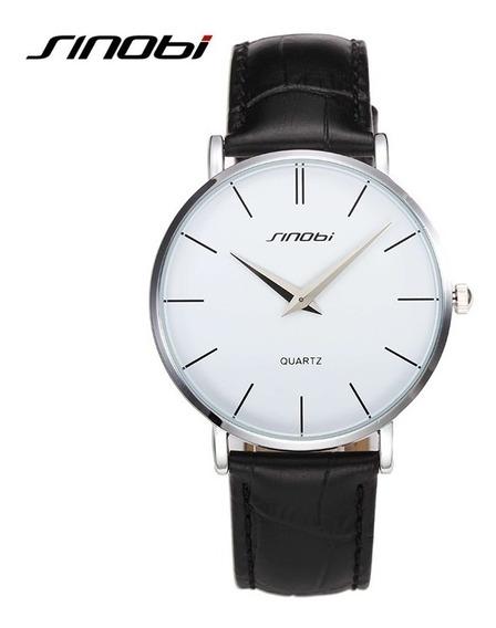 Relógio Masculino Casual Sinobi Super Slim - Pronta Entrega