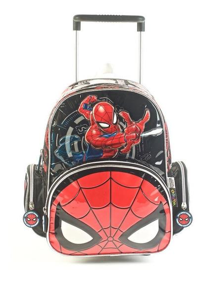 Mochila Spiderman Go Spidey Con Carro 12