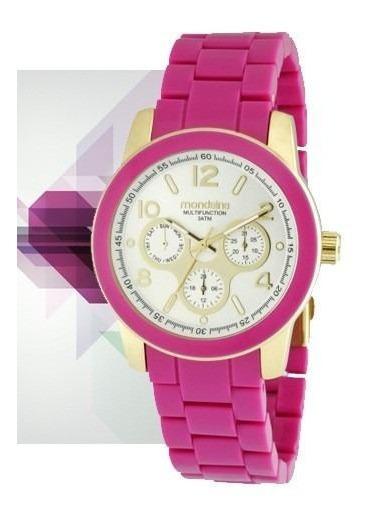 Relógio Mondaine Absolut Feminino Dourado Rosa 94385lpmgdp3