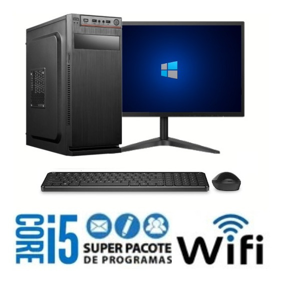 Pc Gamer Core I5 3 Geração Ram 4gb 120gb + Monitor