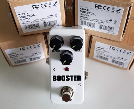 Pedal Booster Kokko Pequeno Resistente Analogico Bypass T