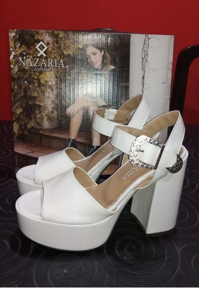 Zapato Nazaria De Fiesta Blanco Talle 40