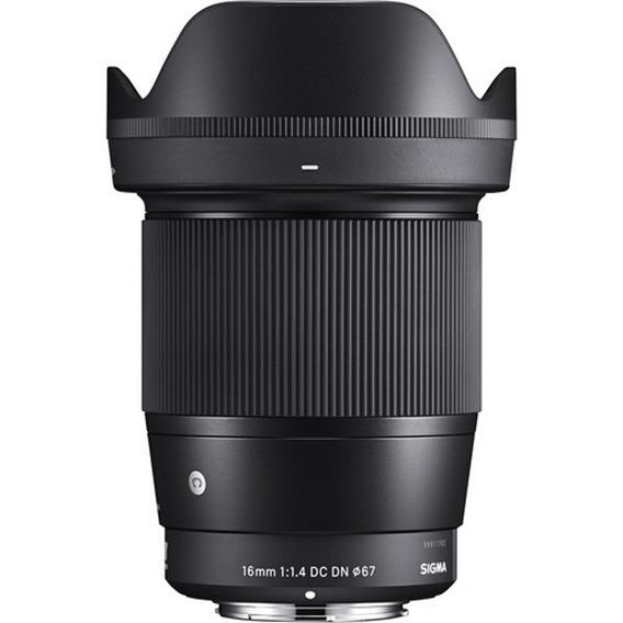 Lente Sigma 16mm F/1.4 Dc Dn Para Sony E - Loja Platinum