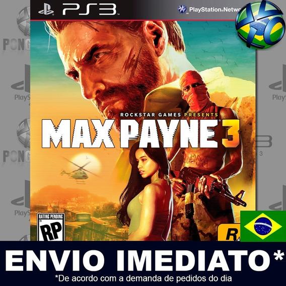 Max Payne 3 Digital Psn Legendas Português Envio Promoção