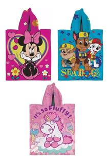 Poncho Toalla Capucha Microfibra Piñata Minnie Mickey Disney
