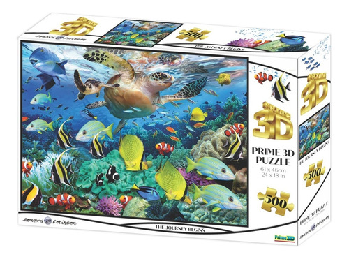 Puzzle Rompecabeza 500 Pzs Prime 3d El Viaje Comienza 10069