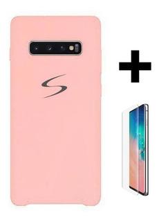Capinha De Silicone Samsung + Pelicula De Vidro