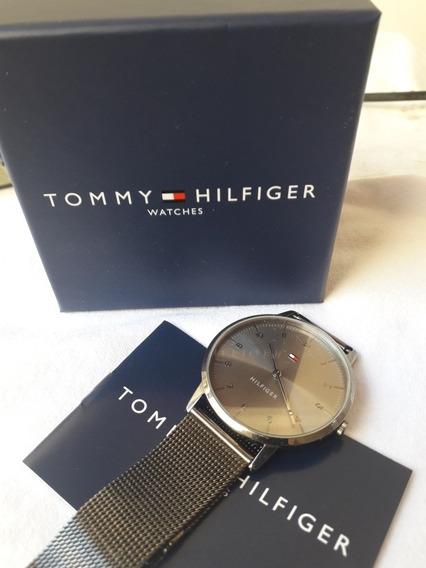 Relógio Tommy Hilfiger Social, Pulseira De Aço