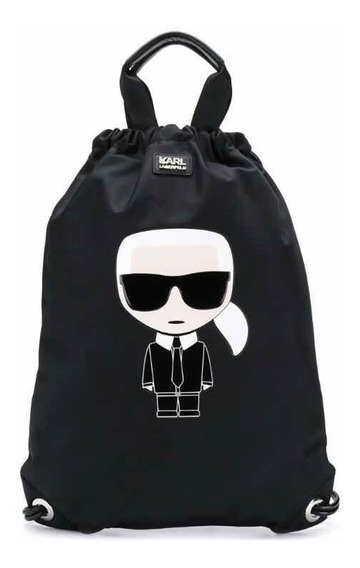 Mochila Karl Lagerfeld Ikonik Negra 100% Original