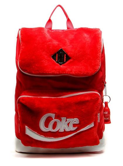 Mochila De Costas Coca Cola Plush Vermelho - Pcf Global