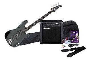 Paquete De Amplificador Y Guitarra Baja Silvertone Lb11,