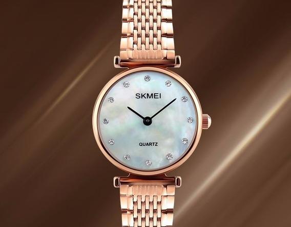 Relógio Feminino Luxo Skmei 1223