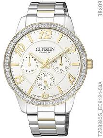 Relógio Citizen Feminino Bicolor Com Cristais Tz28280s