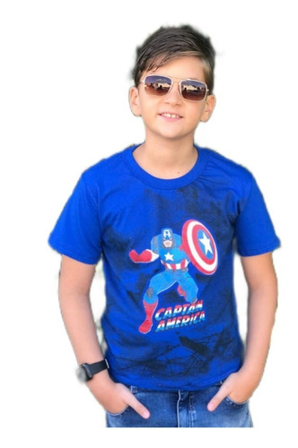 Imagem 1 de 10 de Kit 6 Camiseta Infantil Juvenil Personagens Herois Atacado