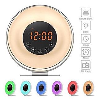 Despertar Reloj Alarma Luz, Despertador Digital Salida Sol