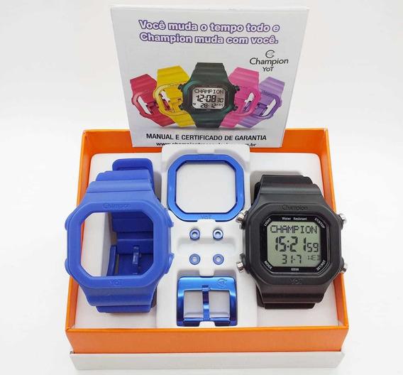 Relógio Champion Original Barato A Prova D`água Cp40180x11