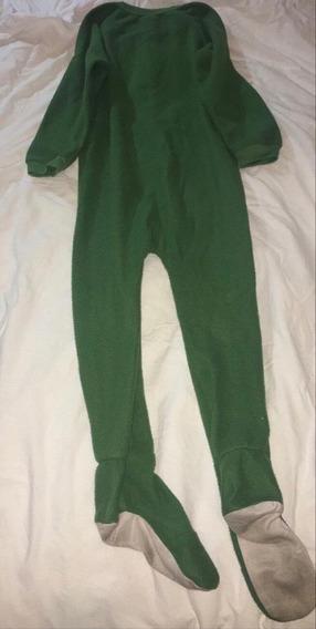 Pijama Entero Con Para T5 Color Verde.